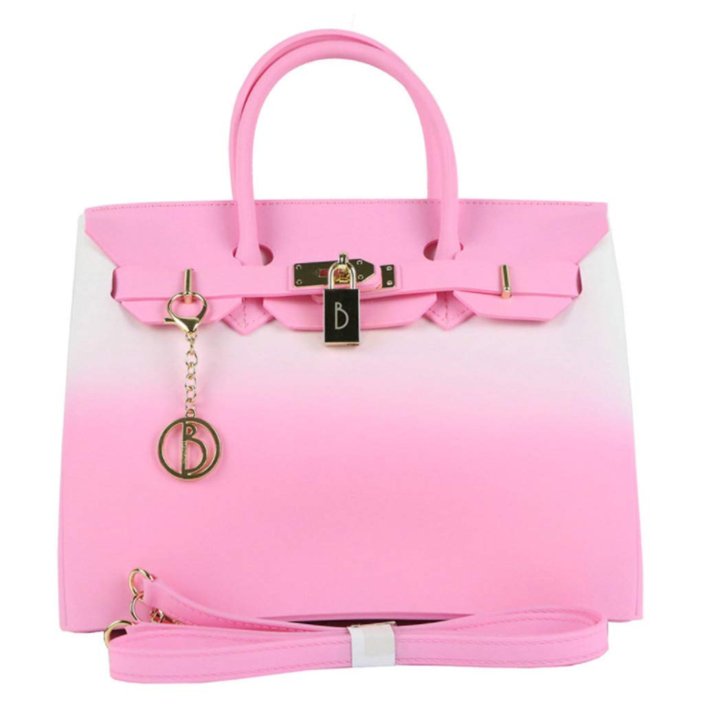 Bolso de Damas-PVC Americana Bolso de Mujer Contraste Bolso de Mujer Scrub Jelly Platinum Bag: Amazon.es: Hogar