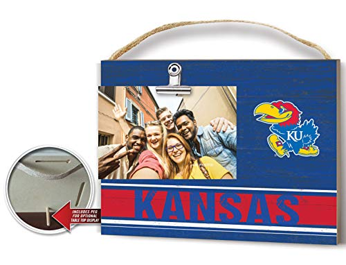 KH Sports Fan Clip It Colored Logo Photo Frame Kansas Jayhawks
