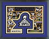 Baltimore Ravens SB XLVII Champions Framed 11x14 Photo Trophy Ray Lewis Last Ride