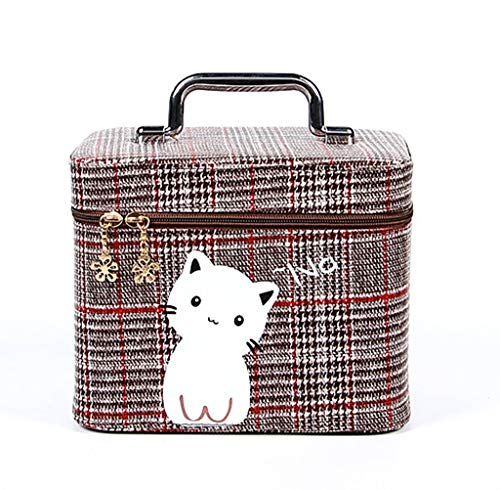 Travel cosmetic bag, train cosmetic cosmetic case storage bag portable art storage bag adjustable partition cosmetic makeup brush cosmetic accessories digital accessories,e
