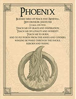 Amazon uhomate phoenix bird home canvas prints wall art fiery phoenix rise from the ashes parchment poster voltagebd Images