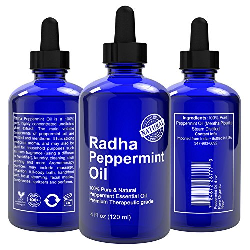 Radha beauty peppermint essential oil 4 oz 100 pure and for 7 jardins premium peppermint 100 pure natural therapeutic grade essential
