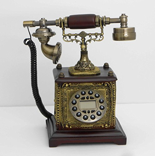 Retro style push button dial desk telephone / Home decorative # 1690