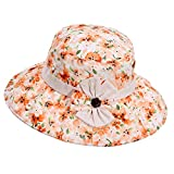 Panda Superstore Hat Summer Ms. Collapsible Sun Hat UV Large Brimmed Beach Hat Breathable