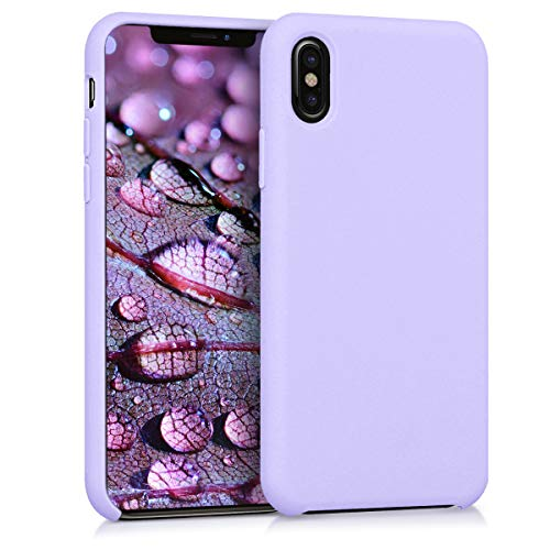 kwmobile TPU Silicone Case for Apple iPhone X - Soft Flexible Rubber Protective Cover - Lavender
