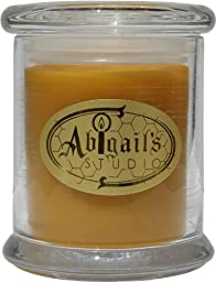 Abigail\'s Studio 100% Beeswax Candle in Glass with Lid, 3 Inch x 3 Inch