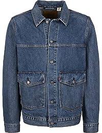 Levi's Men's Patch Pocket Trucker Jacket, Blue