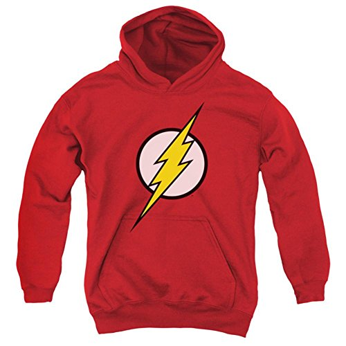 Dc Red Sweatshirt (Youth Hoodie: Justice League - Flash Logo Pullover Hoodie Size YM)