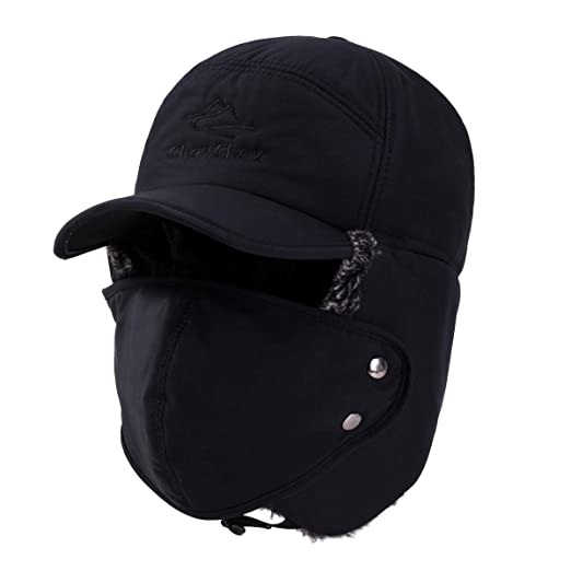 3be85326b78 ChayChax Unisex Warm Winter Trooper Trapper Hat Faux Fur Hunting Aviator  Ski Hat