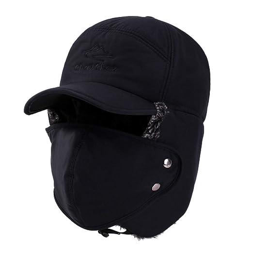 9ad5e097083 ChayChax Unisex Warm Winter Trooper Trapper Hat Faux Fur Hunting Aviator  Ski Hat