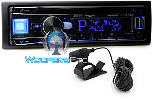 Alpine CDE-164BT - Alpine In-Dash 1-DIN CD/MP3 Receiver with