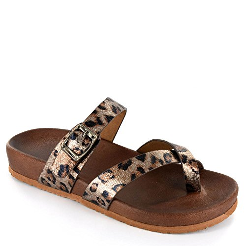 Corkys Santa Ana Women's Sandal 9 B(M) US Cheetah (Corkys Shoes Women Sandals)
