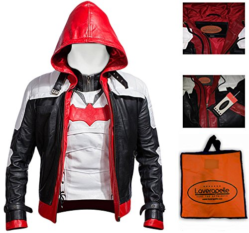 Laverapelle Batman Arkham Knight Red Hood Men Vest and Jacket 2 in 1 - Extra Large (Batman The Red Hood compare prices)
