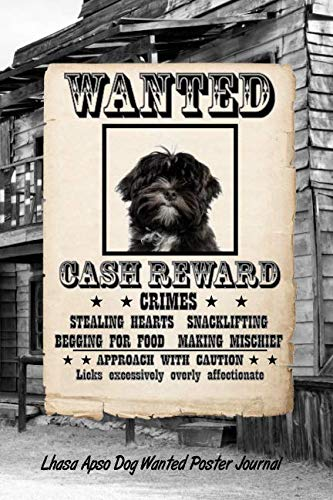 Lhasa Apso Dog Wanted Poster Journal
