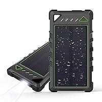Portable Solar Charger, BEARTWO 10000mAh...
