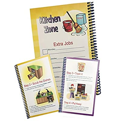 Zone Cleaning + Laundry Flipbook - Kids Chore Chart Bundle: Toys & Games