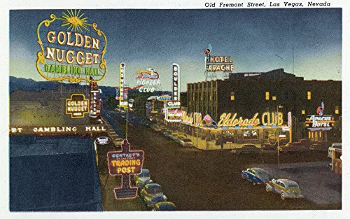Las Vegas, Nevada - General View of Old Fremont Street (16x24 Giclee Gallery Print, Wall Decor Travel Poster)