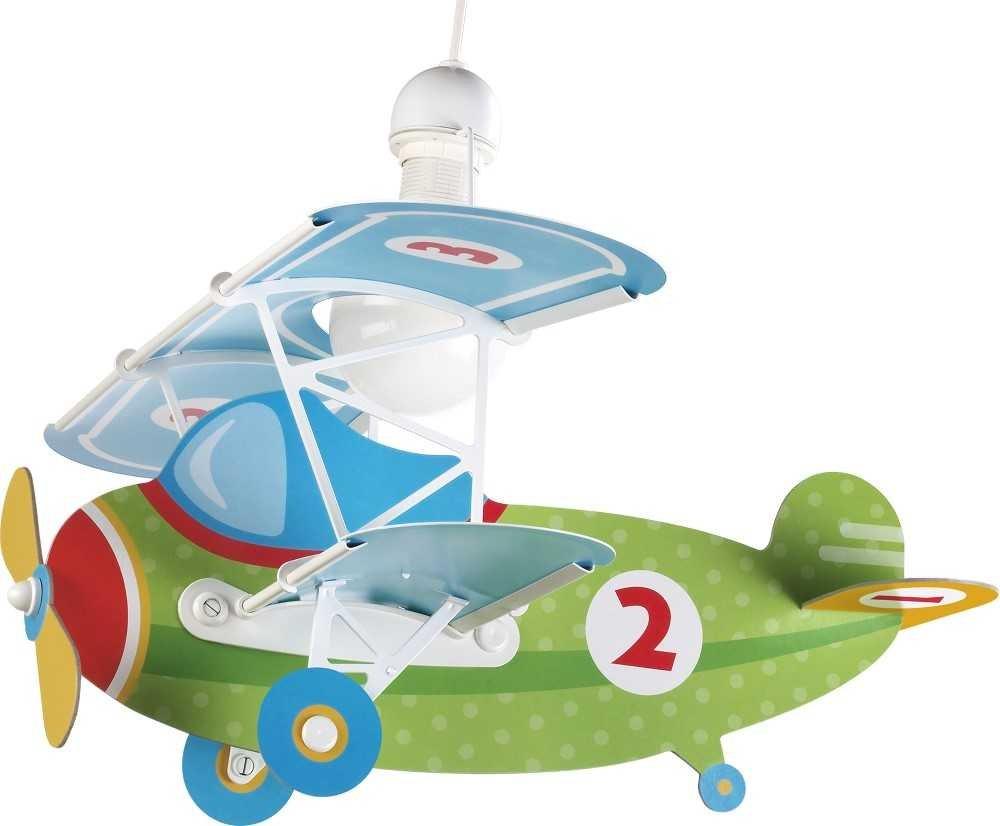 Dalber 54022 Baby Plane Flugzeugform -Hängenleuchte, Plastik, grün, 50 x 64 x 40 cm grün