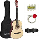 Best Choice Products Natural Acoustic Guitar with Accessories Combo Kit for Beginners