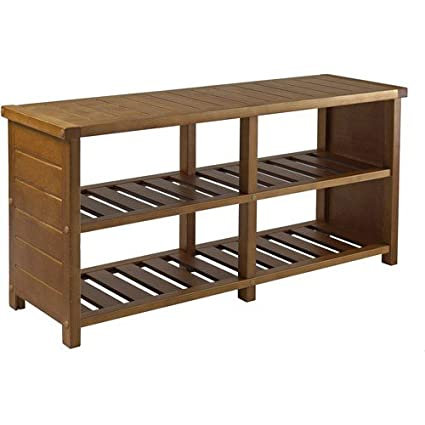 Keystone Entryway Bench With Shoe Storage, Teak + Expert Guide