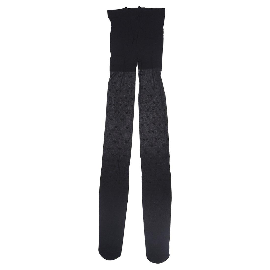 TOOGOO Donna Cuore Grazioso Modello Collant Pantyhose Nero R