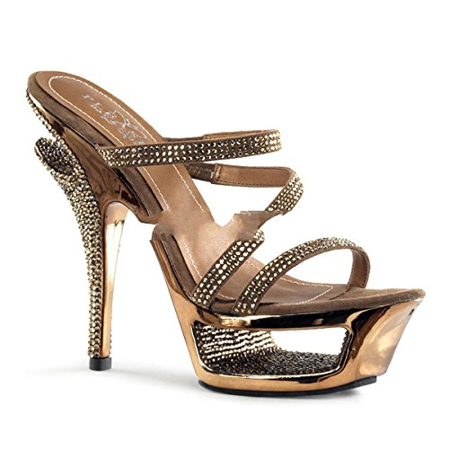 Pleaser Day & Night - Deluxe-603 - sexy plateau talon hauts chaussures femmes sandalettes avec strass 35-40