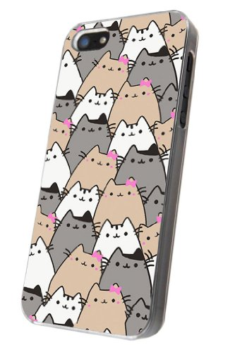 iphone 5 5S Cool Multiple Cats Pattern Design Fashion Trend Hülle Case Back Cover Metall und Kunststoff-Löschen Frame