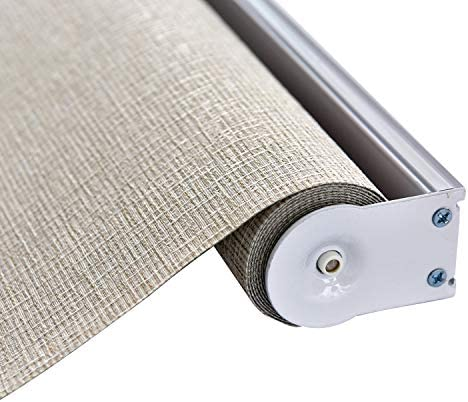 ALLBRIGHT Thermal Insulated Fabric 100 Blackout UV Protection Rialto Emboss Cordless Roller Shade
