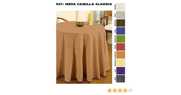 Cardenal - Falda de Mesa Camilla 80 Claudia Gris: Amazon.es: Hogar