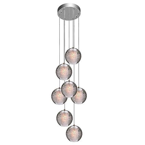 KJLARS Iluminación colgante LED Lámparas de araña ajustable ...