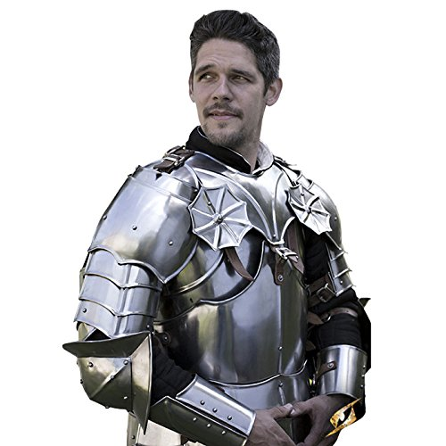 Armor Venue - Gothic Gorget with Pauldrons - Metallic - One Size Armour by Epic Armoury (Image #5)