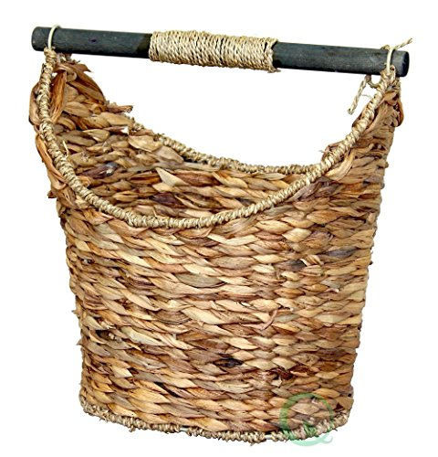 Butler Tissue Holder - Vintiquewise(TM) Rustic Toilet Paper Holder/Magazine Basket