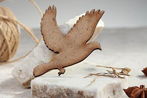 "Handmade Craft Shape Chipboard ""Dove"" Art Supply"