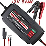 [IP65] LST Boat Battery Charger Maintainer 12V Trickle Deep Cycle Water Resistance for Automotive Car RV SLA ATV AGM GEL CELL WET& FLOODED Lead Acid Batteries