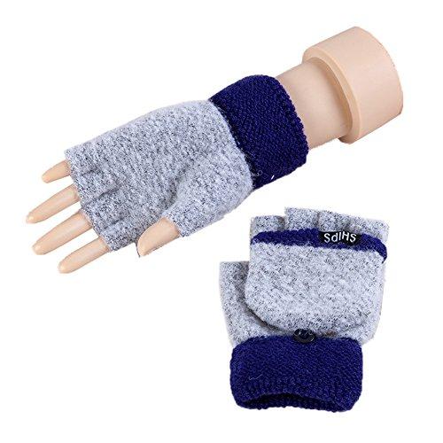 冬グローブ/暖かいストレッチニット手袋/ half-fingersレディース手袋