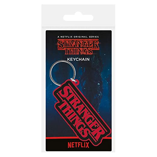 Stranger Things Logo Keychain (One Size) (Red/Black)