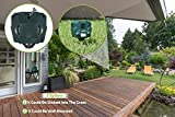 Solar Powered Ultrasonic Repeller – 1 Speaker – LED Flash Light and Wall Mounting Option – 30' Motion Sensor – Mouse, Rabbit, Birds, Deer, Cats, Dogs and Pests