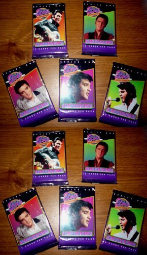 River Group 10 Sealed Pack Lot Elvis Presley Trading Cards - 1992 Series One - 120 Cards Total