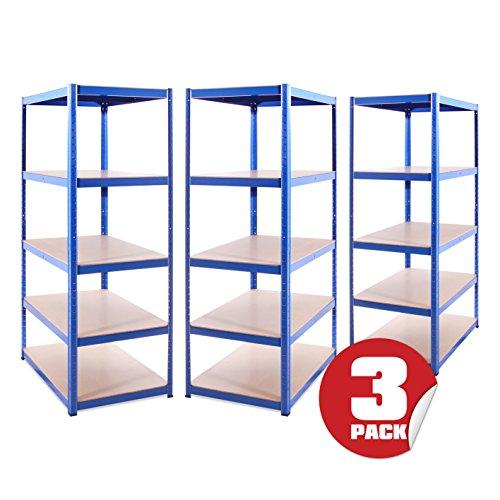 Garage Shelving Units: 180cm x 90cm x 60cm   Heavy Duty Racking Shelves for...