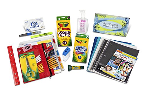Sixth through Eighth Grade Classroom Supply Pack (School Kit)