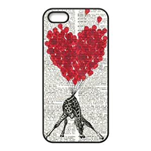 linJUN FENGGiraffe The Unique Printing Art Custom Phone Case for Iphone 5,5S,diy cover case ygtg560938