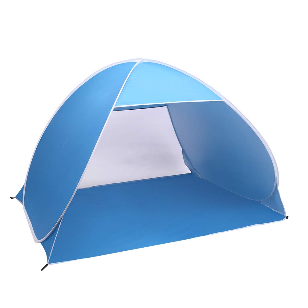 Tenozek 2-3 Person Beach Tent Pop Up Sun Shelter Tent Big Automatic Sun Umbrella 2-3 Person Fishing Beach Shelter Blue (TN-07924192-GT) by Tenozek