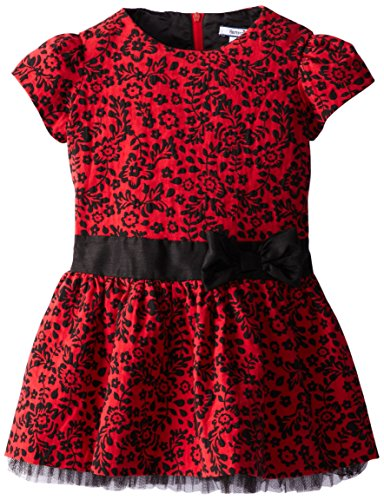 Hartstrings Little Girls' Woven Jacquard Dress, Floral Print, 3T