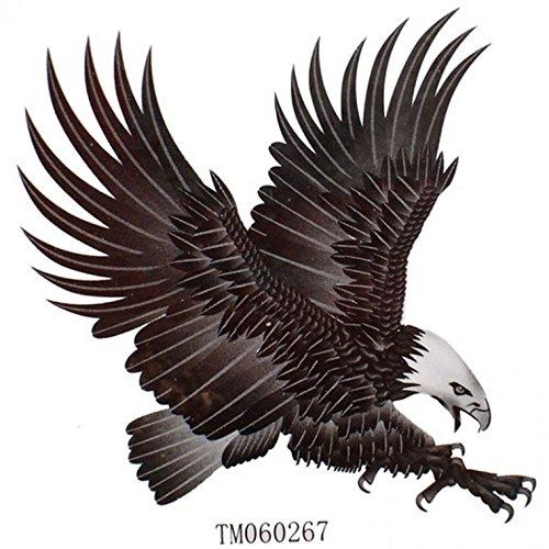 King Horse Wasserdicht Männer und Frauen Mode sexy Tattoo-Aufkleber Adler