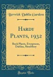 Amazon / Forgotten Books: Hardy Plants, 1932 Rock Plants, Evergreens, Dahlias, Shrubbery Classic Reprint (Berwick Dahlia Gardens)