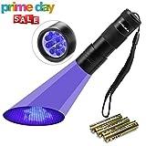 Black Light UV Flashlight UV Light,Vansky Blacklight 12 LED Ultraviolet Urine Detector For Dog/Cat/Pet Urine & Dry Stains and Bed Bug On Carpets/Rugs/Floor,Matching with Pet Odor Eliminator