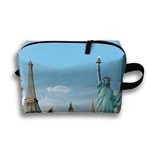 Statue Of Liberty In New York Plaza Portable Receive Bag Women Pouch Handbag Case