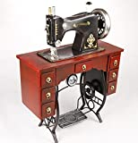 GL&G Retro Nostalgic Iron Vertical Pedal Sewing machine model clothing store Home Décor Accents Collectible Keepsakes Ornaments Tabletop Scenes,351746cm