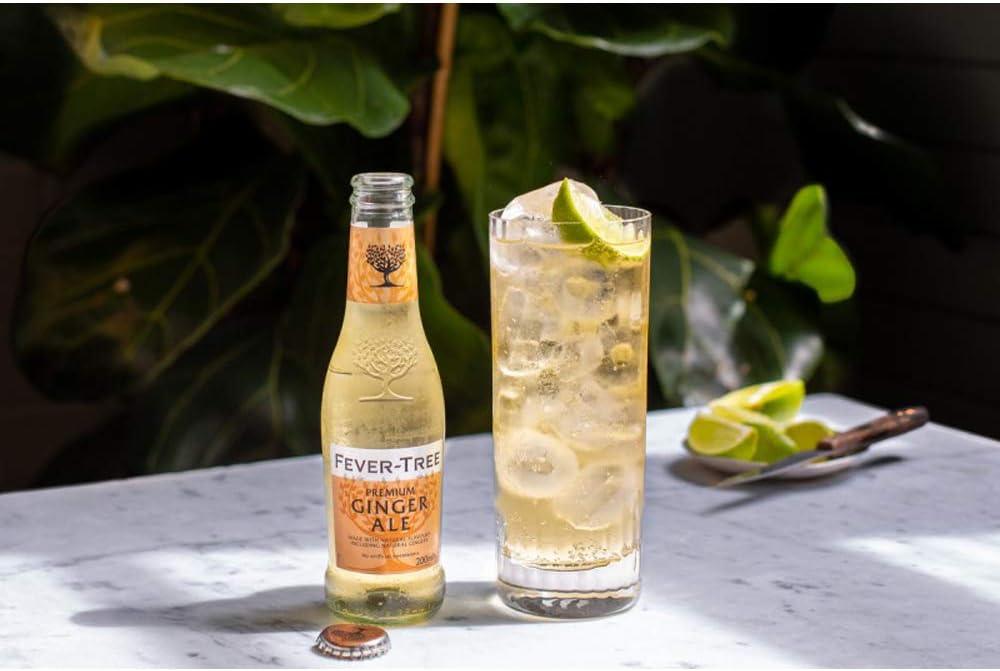 Fever-Tree - Premium Ginger Ale, Caja de 24 Botellas 20cl Refresco de Jengibre, Bebida Para Ron, Whisky O Bourbon, en Botellín, Original, Calidad, Muy ...