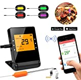 Shinmax BBQ Meat Thermometer for Grilling,APP Controlled Smart Cooking Bluetooth Thermometer for Outdoors Smoker Oven BBQ Indoor Kitchen (4P)
